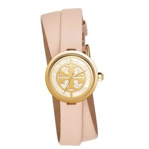 NWT Tory Burch Rev Double Wrap Leather Strap Watch